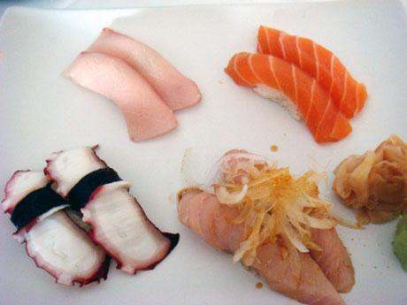 Sushi (Tako, Hamachi, Albacore, Sake) - $20