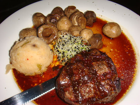 Fillet Mignon $29.95 with Kimchi mashed potatoes