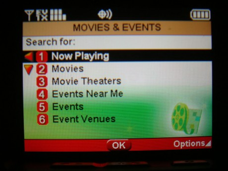 New option to help locate movie theaters and events