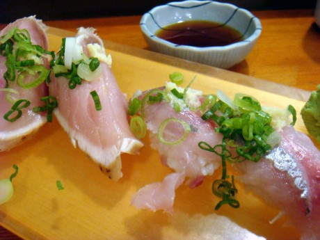 Albacore - $3.80 and Spanish Mackeral - $3.60