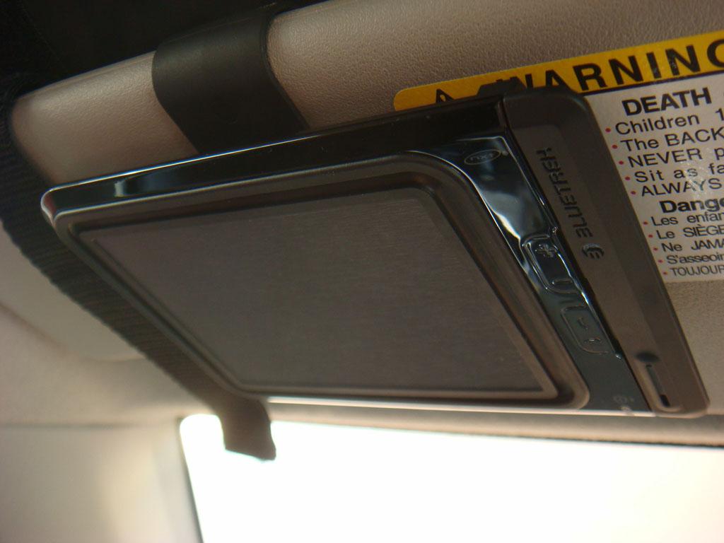 Installed on car visor
