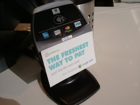 Google Wallet Shows Up At Pinkberry