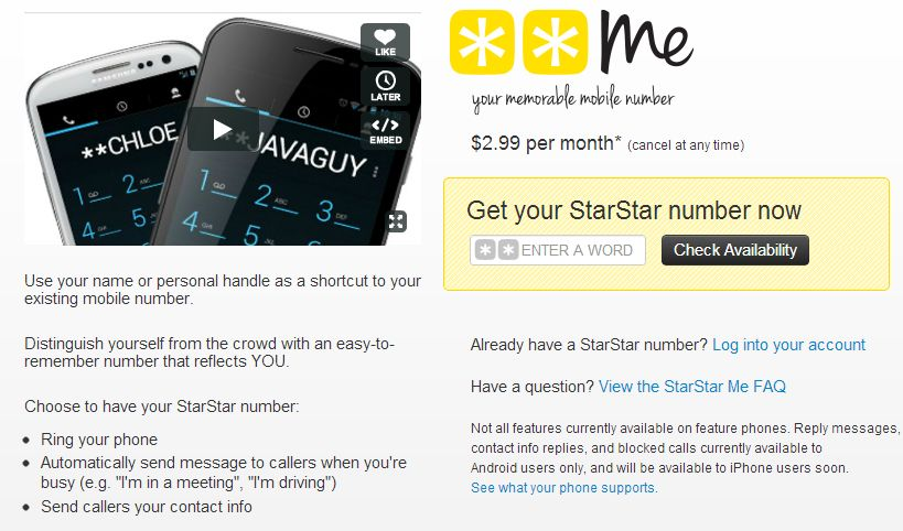Sprint Offers Vanity Phone Numbers With StarStarMe – Review
