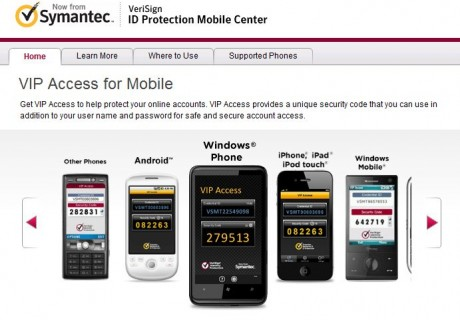 VIP Access App For Verisign ID Protection