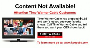 CBS Blocks cbs.com From Time Warner Cable Broadband Users