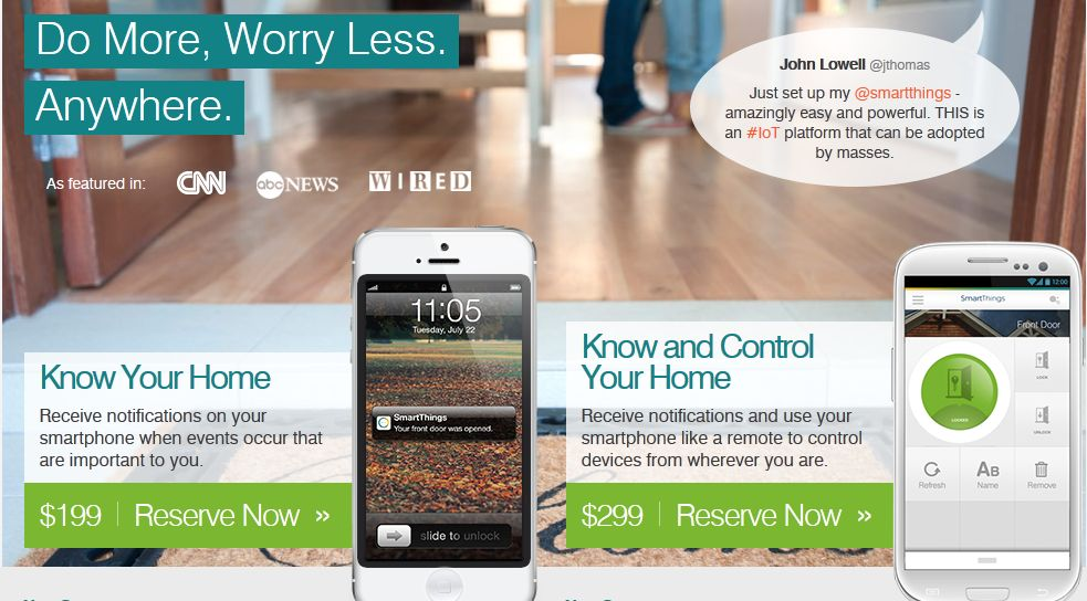 Smartthings Connects Everything To Smartphone