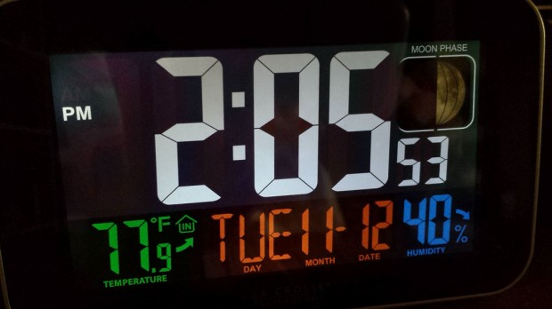 le crosse alarm clock display