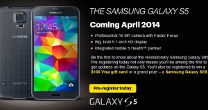 Sprint to Release Samsung Galaxy S5 in April