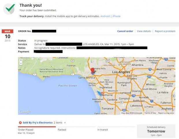 google express map