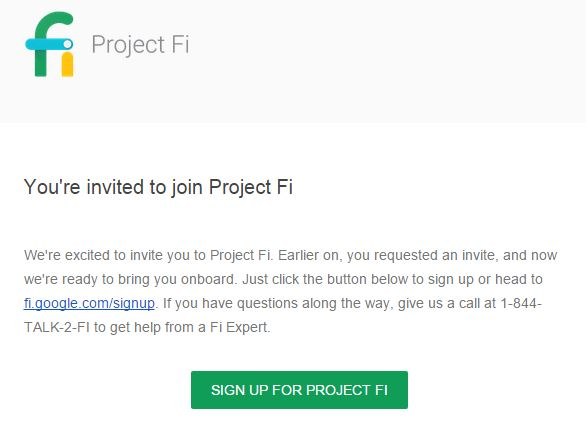 project fi signup email