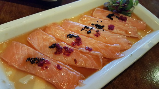 back house salmon carpaccio