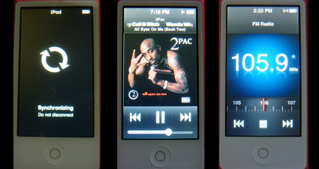 ipod nano screens