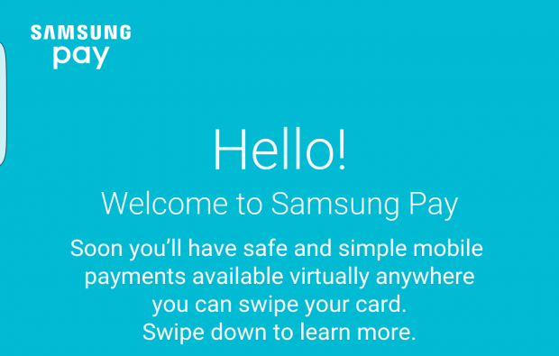 samsung pay screen