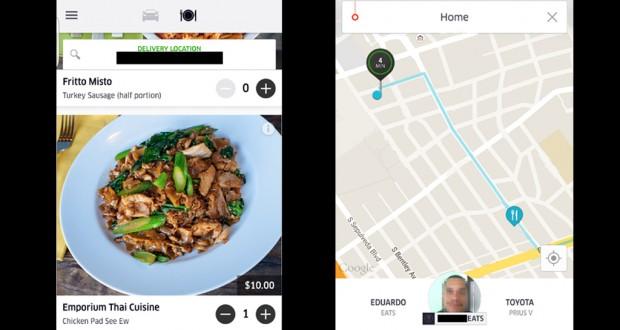 uber eats screens