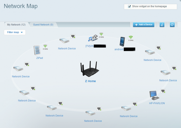 linksys ac2600 map