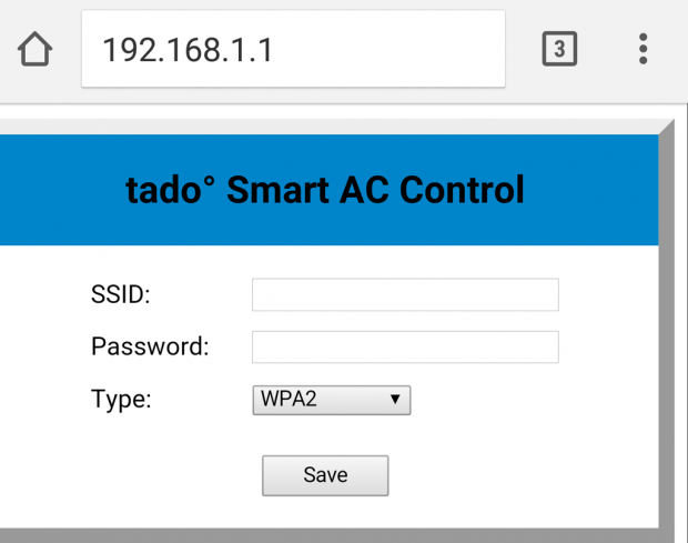 tado wifi setting