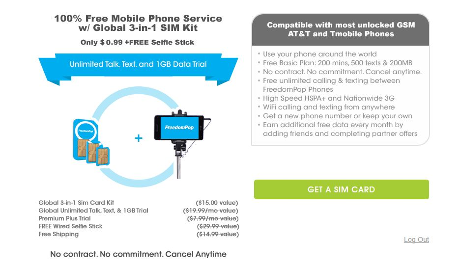 FreedomPop Offers Free Service & SIMs For $1
