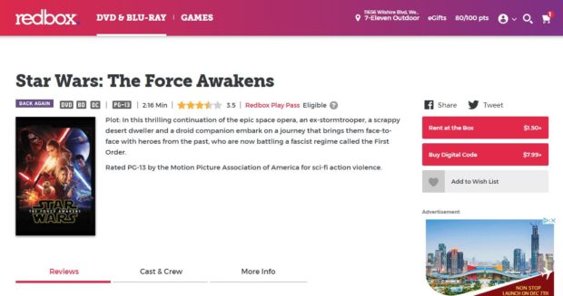 Redbox Sells Digital Codes For Download