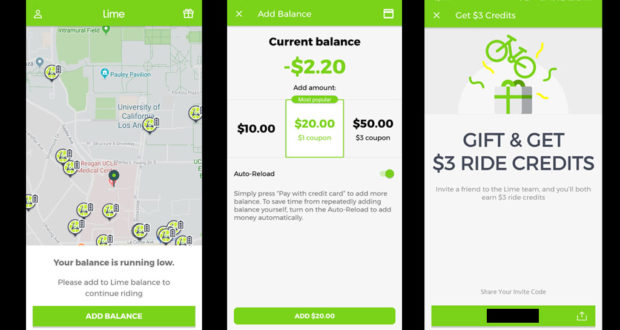 Lime-S Scooter Payments Work Like Paypal